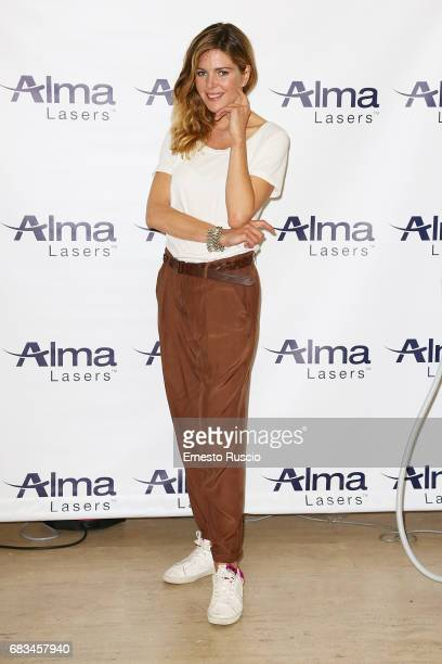 Actress Elisabetta Pellini attends the Alma Lasers Event at Centrale Del Tennis during the Tennis Internazionali BNL d'Italia 2017 on May 15 2017 in...