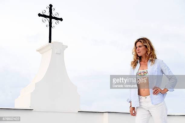 Actress Elisabetta Pellini poses during the 2016 Ischia Global Film Music Fest on July 15 2016 in Ischia Italy