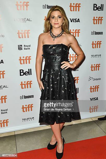 Actress Elise Bauman attends the 'Below Her Mouth' premiere during 2016 Toronto International Film Festival at Isabel Bader Theatre on September 10...