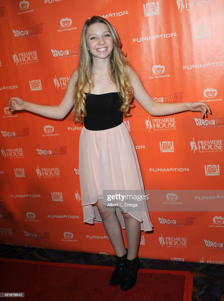 Actress Elise Luthman arrives for the Premiere Of 'Dragon Ball