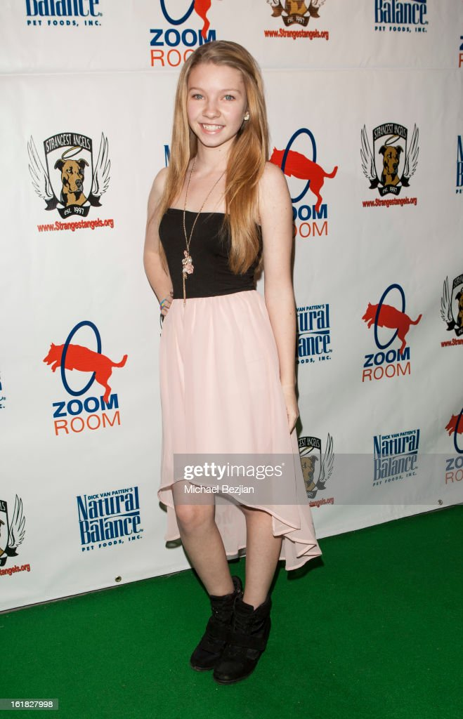 Actress Elise Luthman attends Hooray for Hollywoof! Grand Opening and Launch Party for Zoom Room at Zoom Room on February 16, 2013 in Sherman Oaks, California.
