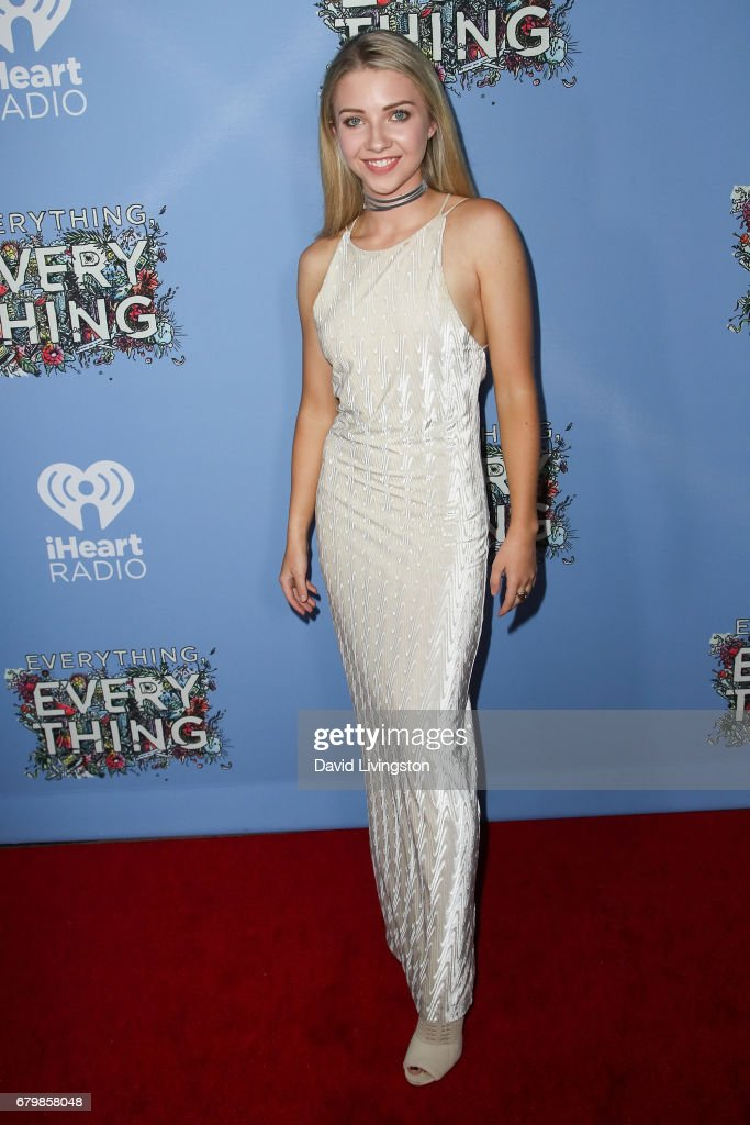 Actress Elise Luthman attends the screening of Warner Bros. Pictures' 'Everything, Everything' at the TCL Chinese Theatre on May 6, 2017 in Hollywood, California.