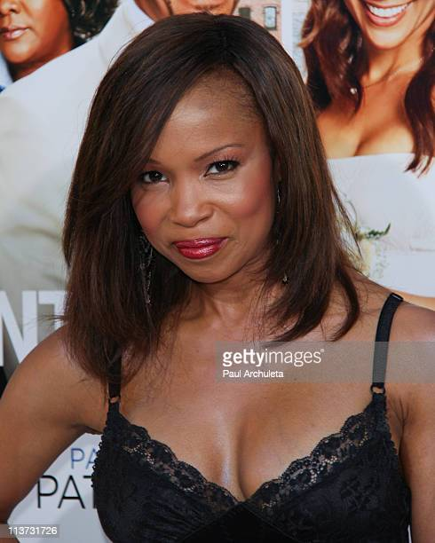 Actress Elise Neal arrives at the 'Jumping The Broom' Los Angeles premiere at ArcLight Cinemas Cinerama Dome on May 4 2011 in Hollywood California