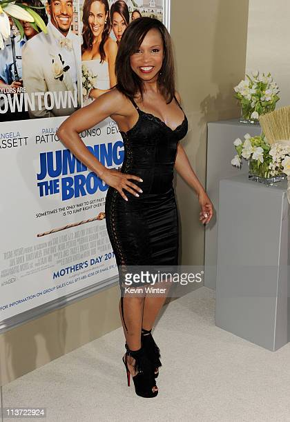 Actress Elise Neal arrives at the premiere of TriStar Pictures' 'Jumping The Broom' at the Cinerama Dome Theater on May 4 2011 in Los Angeles...