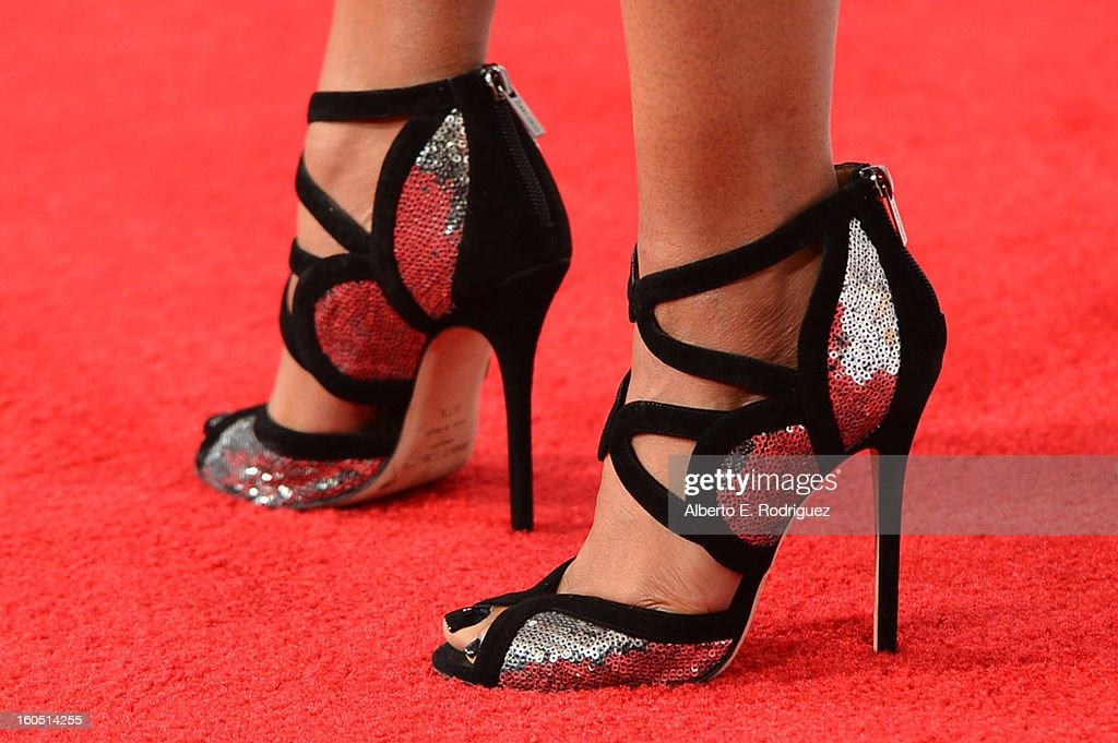 Actress Elise Neal (shoe detail) attends the 44th NAACP Image Awards at The Shrine Auditorium on February 1, 2013 in Los Angeles, California.