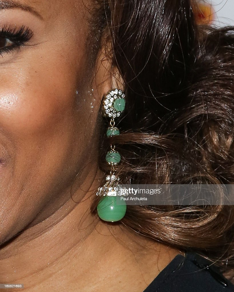 Actress Elise Neal (Jewelry Detail) attends the The 44th NAACP Image Awards post show gala at the Millennium Biltmore Hotel on February 1, 2013 in Los Angeles, California.