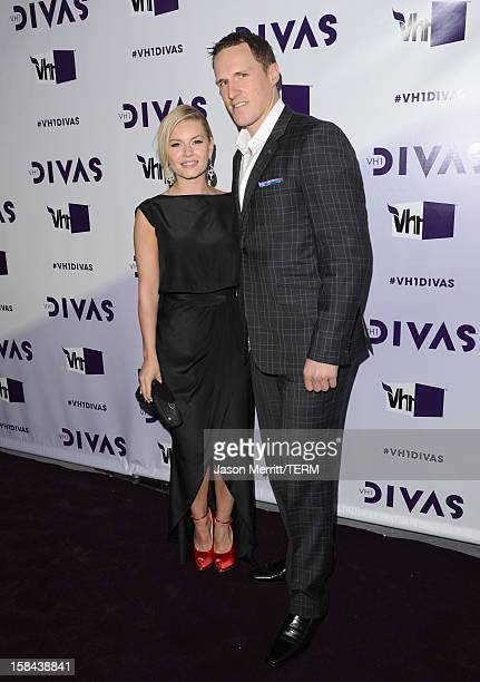 Actress Elisha Cuthbert and NHL player Dion Phaneuf arrive at 'VH1 Divas' 2012 held at The Shrine Auditorium on December 16 2012 in Los Angeles...