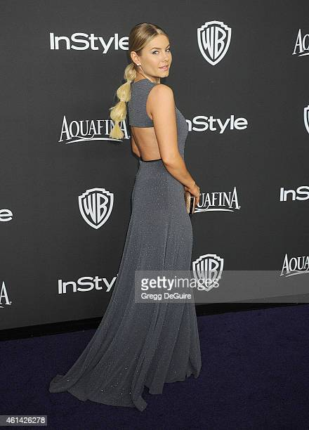 Actress Elisha Cuthbert arrives at the 16th Annual Warner Bros And InStyle PostGolden Globe Party at The Beverly Hilton Hotel on January 11 2015 in...