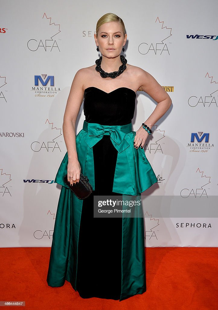 Actress Elisha Cuthbert arrives at the 1st Annual Canadian Arts and Fashion Awards at the Fairmont Royal York Hotel on February 1, 2014 in Toronto, Canada.