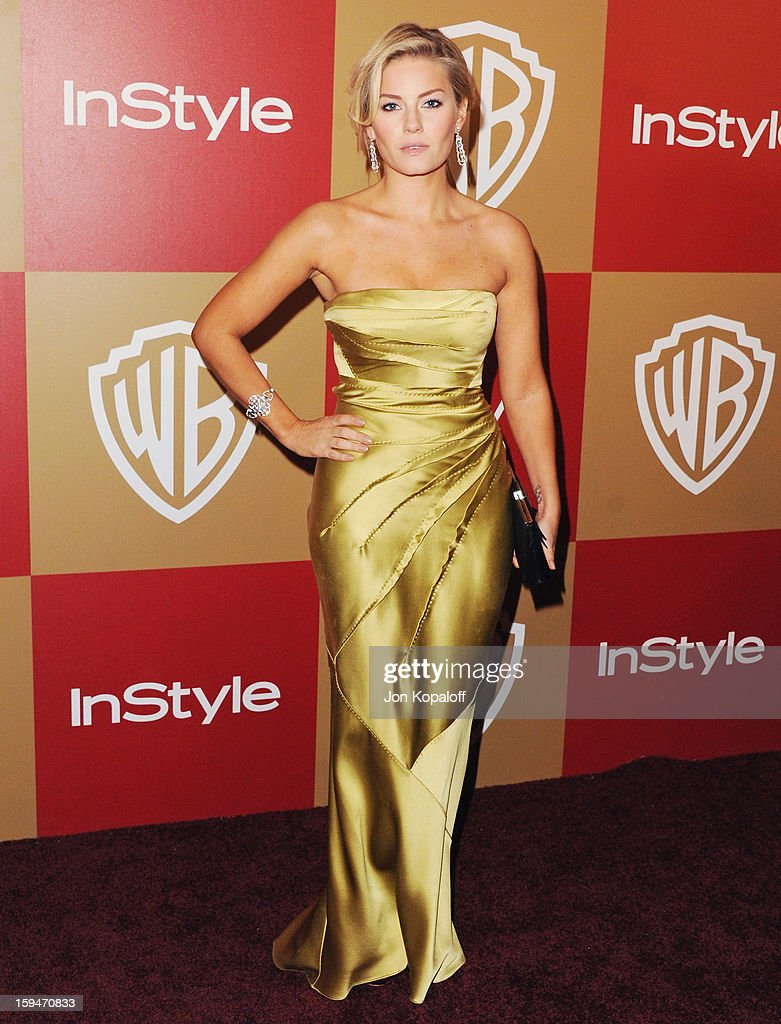 Actress Elisha Cuthbert arrives at the InStyle And Warner Bros. Golden Globe Party at The Beverly Hilton Hotel on January 13, 2013 in Beverly Hills, California.