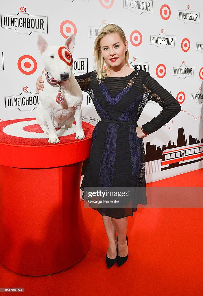 Actress Elisha Cuthbert attends the opening of Target At Shoppers World Danforth on March 27, 2013 in Toronto, Canada.