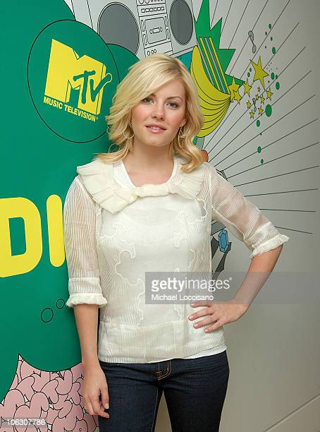 Actress Elisha Cuthbert makes an appearance during a taping of MTV's 'TRL' at the MTV Times Square Studio on July 2 2007 in New York The airing date...