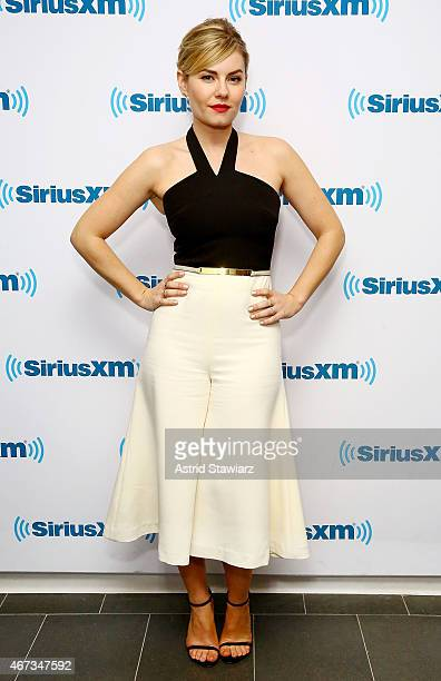 Actress Elisha Cuthbert visits the SiriusXM Studios on March 23 2015 in New York City