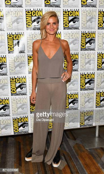 Actress Eliza Coupe at Hulu's 'Future Man' Press Line duirng ComicCon International 2017 at Hilton Bayfront on July 22 2017 in San Diego California