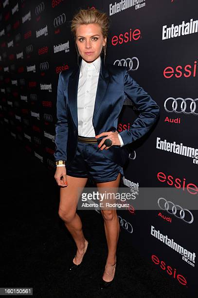 Actress Eliza Coupe attends the Entertainment Weekly PreSAG Party hosted by Essie and Audi held at Chateau Marmont on January 26 2013 in Los Angeles...