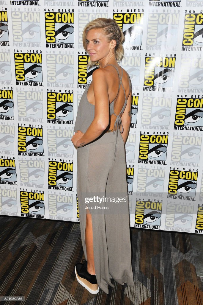Actress Eliza Coupe attends 'The Flash' press line at Comic Con 2017 - Day 3 on July 22, 2017 in San Diego, California.