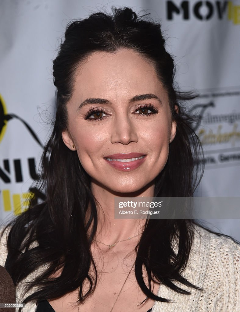 Actress <a gi-track='captionPersonalityLinkClicked' href=/galleries/search?phrase=Eliza+Dushku&family=editorial&specificpeople=209091 ng-click='$event.stopPropagation()'>Eliza Dushku</a> attends the Atomic Age Cinema Fest Premiere of 'The Man Who Saved The World' at Raleigh Studios on April 27, 2016 in Los Angeles, California.