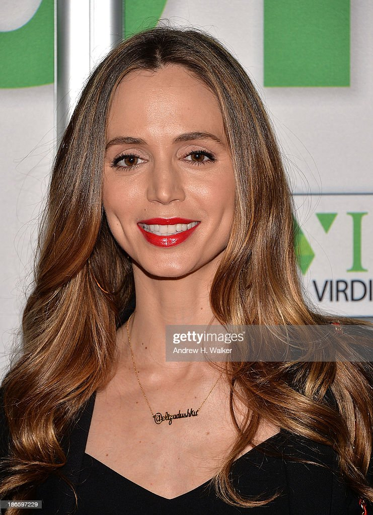 Actress <a gi-track='captionPersonalityLinkClicked' href=/galleries/search?phrase=Eliza+Dushku&family=editorial&specificpeople=209091 ng-click='$event.stopPropagation()'>Eliza Dushku</a> attends the New York screening of 'MikeyBoy The Movie' at AMC Theater on November 1, 2013 in New York City.