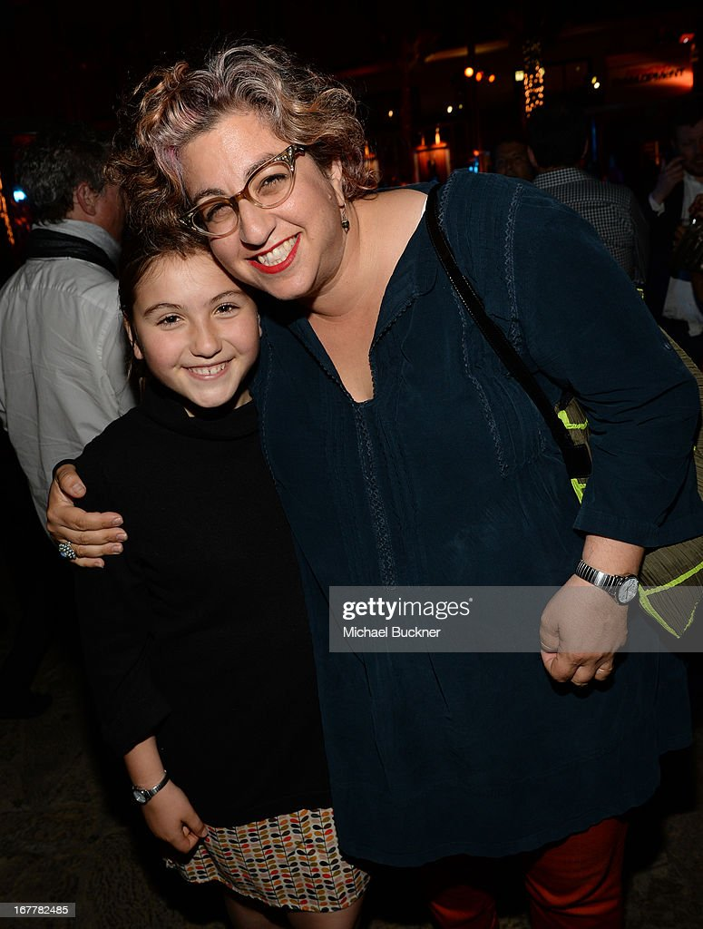 Actress Eliza Noxon (L) and writer <a gi-track='captionPersonalityLinkClicked' href=/galleries/search?phrase=Jenji+Kohan&family=editorial&specificpeople=854240 ng-click='$event.stopPropagation()'>Jenji Kohan</a> attend the after party for the Los Angeles Premiere of Season 4 of Netflix's 'Arrested Development' at the Roosevelt Hotel on April 29, 2013 in Hollywood, California.