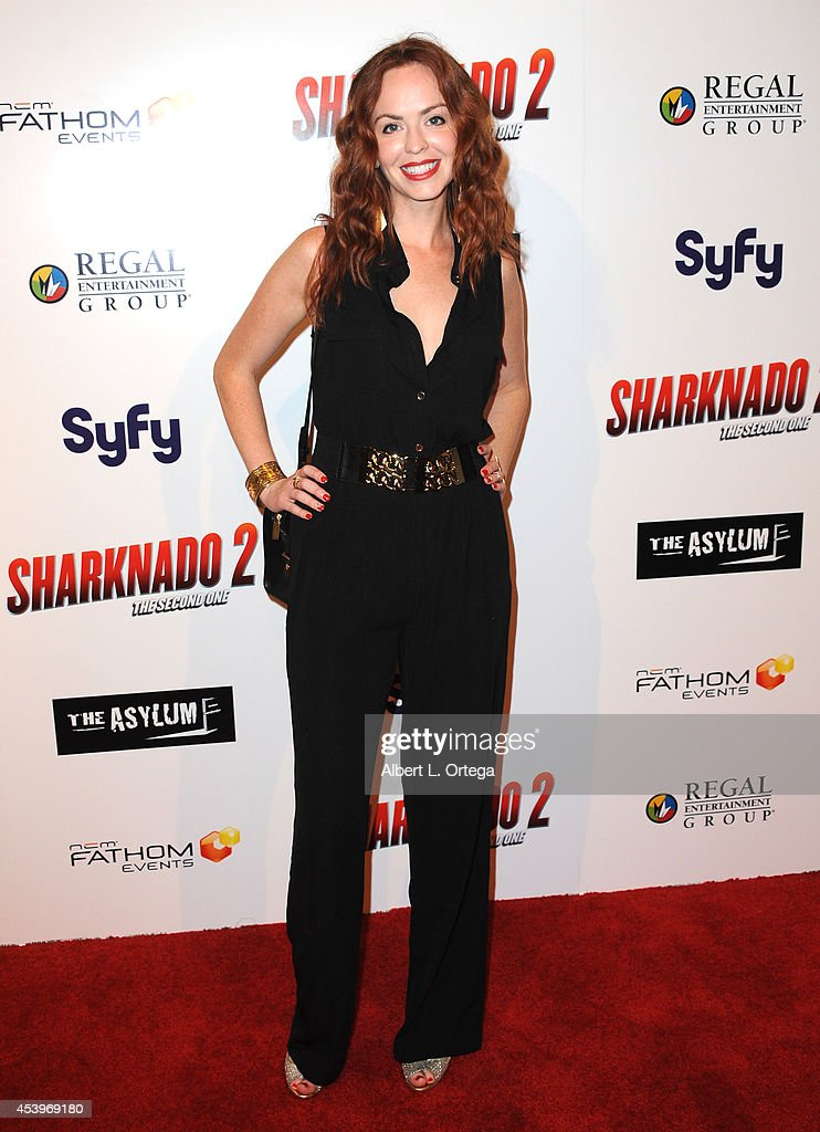Actress Eliza Swenson arrives for the Premiere Of The Asylum & Fathom Events' 'Sharknado 2: The Second One' held at Regal Cinemas L.A. Live on August 21, 2014 in Los Angeles, California.