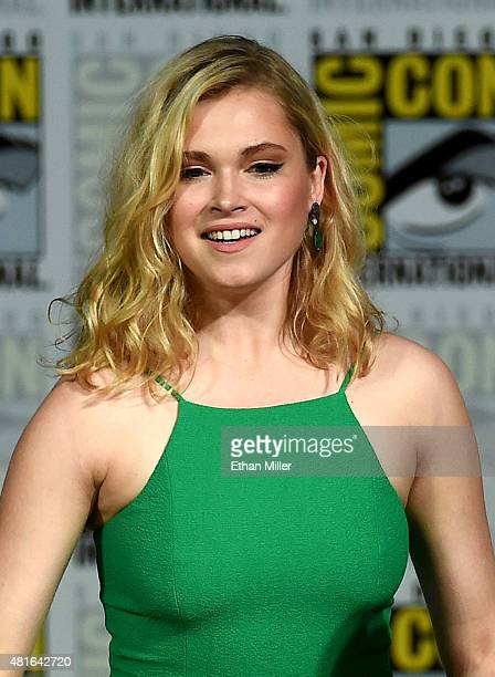 Actress Eliza Taylor attends a special video presentation and panel for 'The 100' during ComicCon International 2015 at the San Diego Convention...