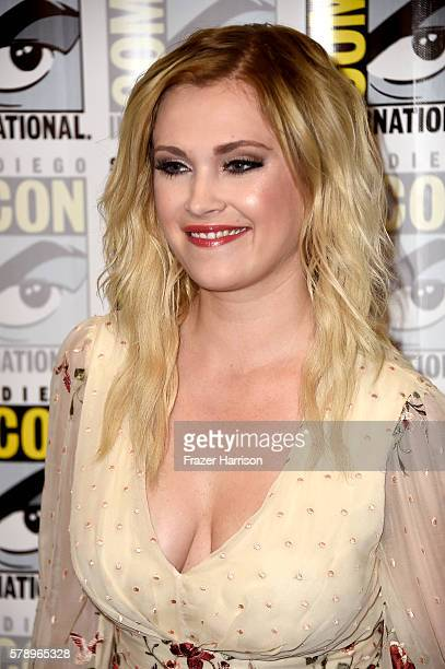 Actress Eliza Taylor attends 'The 100' Press Line during ComicCon International 2016 at Hilton Bayfront on July 22 2016 in San Diego California