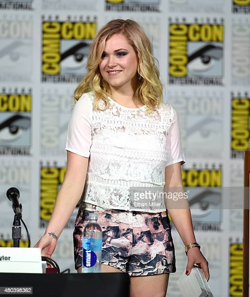 Actress Eliza Taylor walks onstage at the TV Guide Magazine Fan Favorites panel during ComicCon International 2015 at the San Diego Convention Center...
