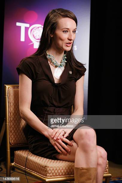 Actress Elizabeth A Davis attends the 2012 Tony Awards Meet The Nominees Press Reception at Millennium Broadway Hotel on May 2 2012 in New York City