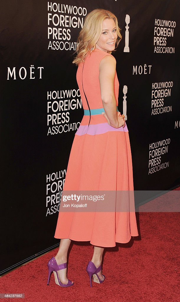Actress Elizabeth Banks arrives at Hollywood Foreign Press Association Hosts Annual Grants Banquet at the Beverly Wilshire Four Seasons Hotel on August 13, 2015 in Beverly Hills, California.