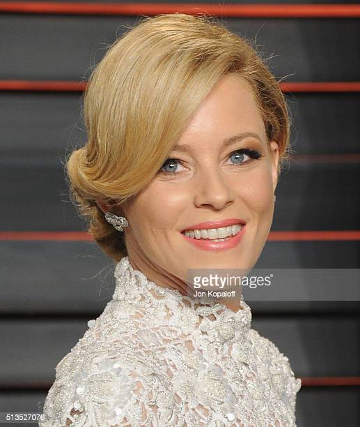 Actress Elizabeth Banks arrives at the 2016 Vanity Fair Oscar Party Hosted By Graydon Carter at Wallis Annenberg Center for the Performing Arts on...