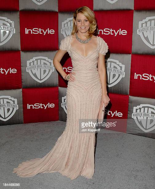 Actress Elizabeth Banks arrives at the 66th Annual Golden Globe Awards InStyle Warner Bros Official After Party at the Oasis Court at The Beverly...