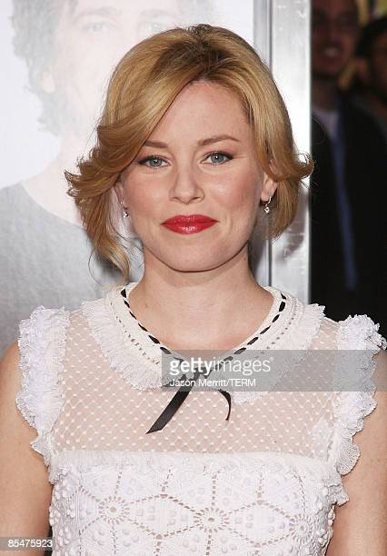 Actress Elizabeth Banks arrives at the Dreamworks' premiere of 'I Love You Man' held at Mann's Village Theater on March 17 2009 in Westwood California