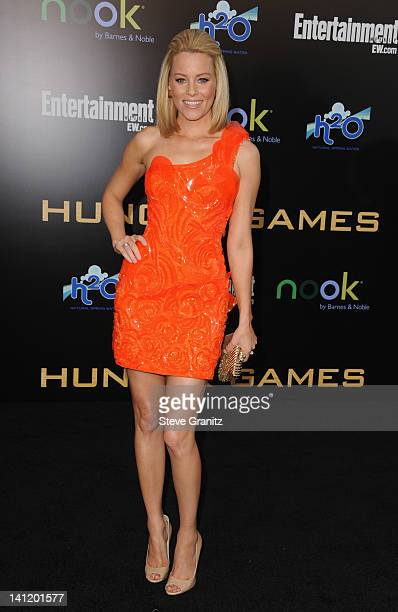 Actress Elizabeth Banks arrives at 'The Hunger Games' Los Angeles premiere held at Nokia Theatre LA Live on March 12 2012 in Los Angeles United States