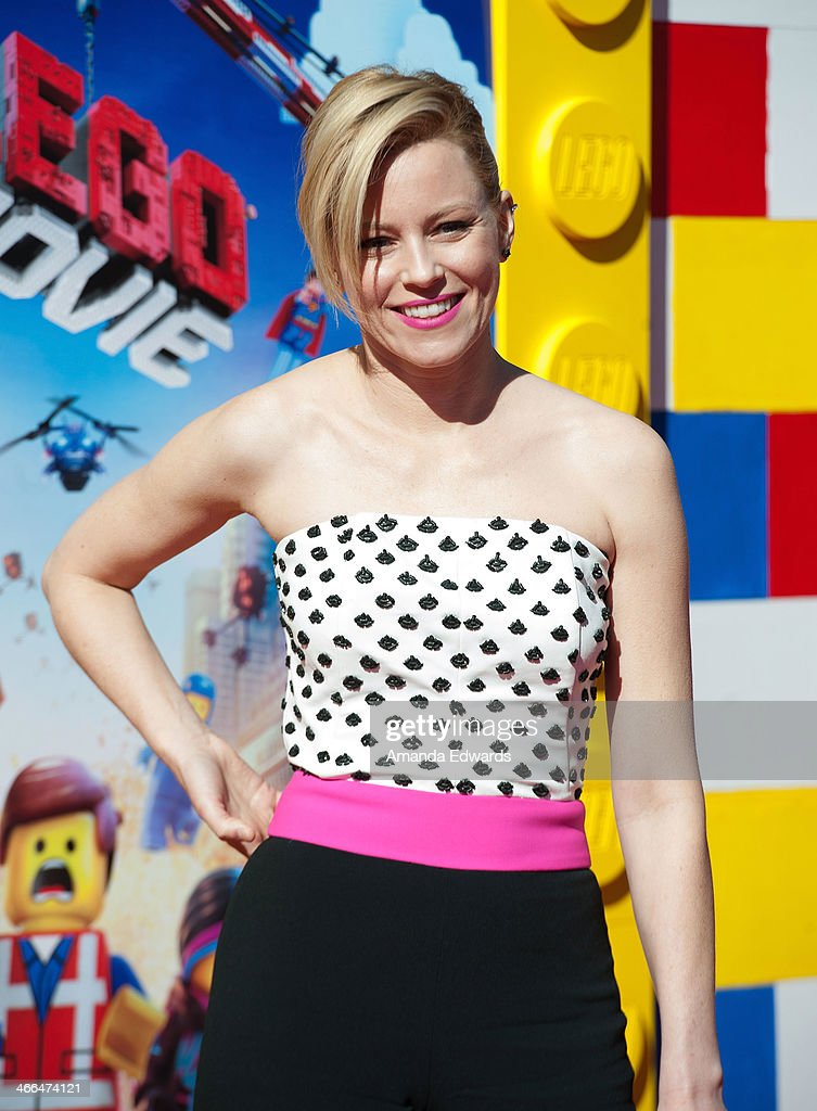 Actress Elizabeth Banks arrives at the Los Angeles premiere of 'The Lego Movie' at the Regency Village Theatre on February 1 2014 in Westwood...