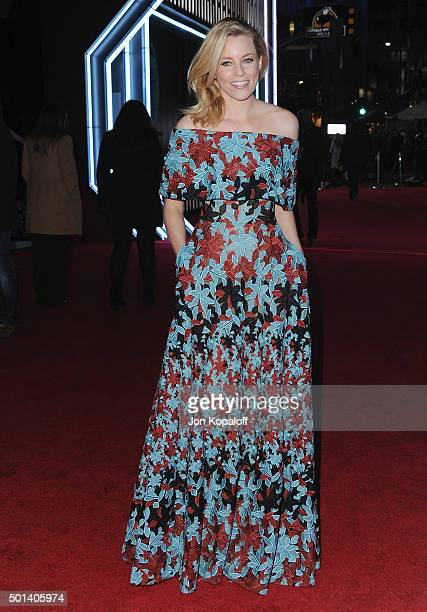 Actress Elizabeth Banks arrives at the Los Angeles Premiere 'Star Wars The Force Awakens' on December 14 2015 in Hollywood California