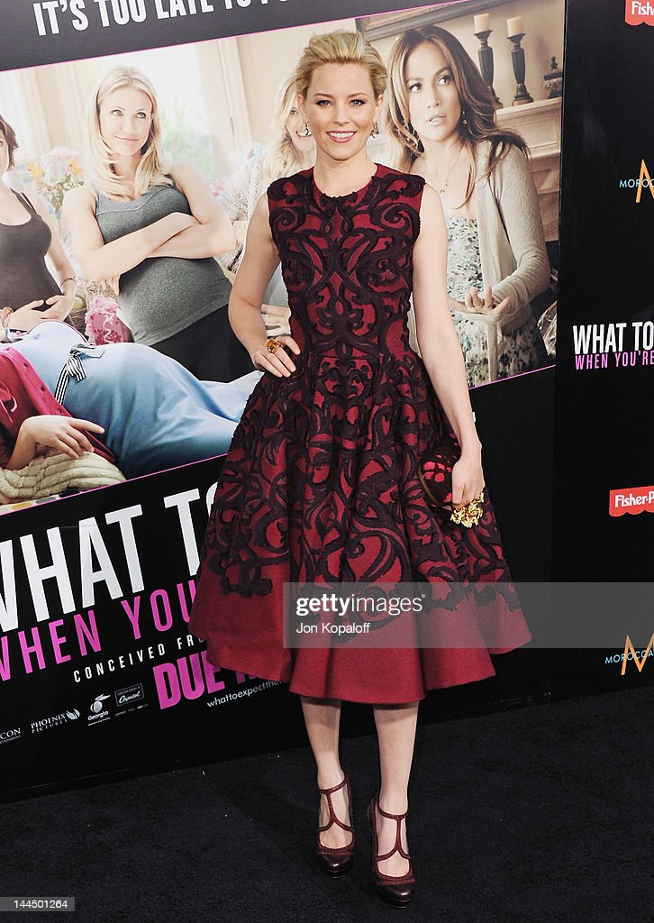 Actress <a gi-track='captionPersonalityLinkClicked' href=/galleries/search?phrase=Elizabeth+Banks&family=editorial&specificpeople=202475 ng-click='$event.stopPropagation()'>Elizabeth Banks</a> arrives at the Los Angeles Premiere 'What To Expect When You're Expecting' at Grauman's Chinese Theatre on May 14, 2012 in Hollywood, California.