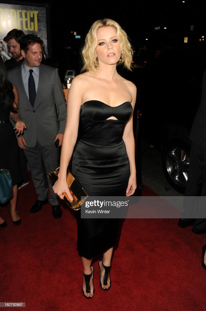 Actress Elizabeth Banks arrives at the premiere of Universal Pictures And Gold Circle Films' 'Pitch Perfect' at ArcLight Cinemas on September 24 2012...
