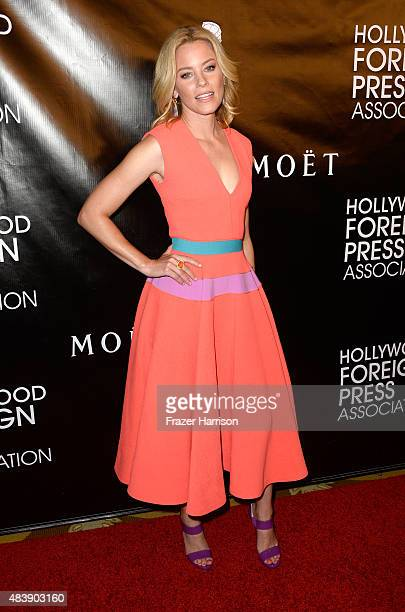 Actress Elizabeth Banks attends HFPA Annual Grants Banquet at the Beverly Wilshire Four Seasons Hotel on August 13 2015 in Beverly Hills California