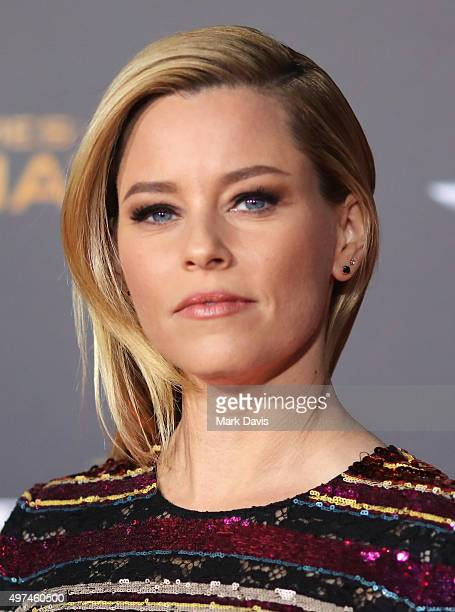 Actress Elizabeth Banks attends premiere of Lionsgate's 'The Hunger Games Mockingjay Part 2' at Microsoft Theater on November 16 2015 in Los Angeles...