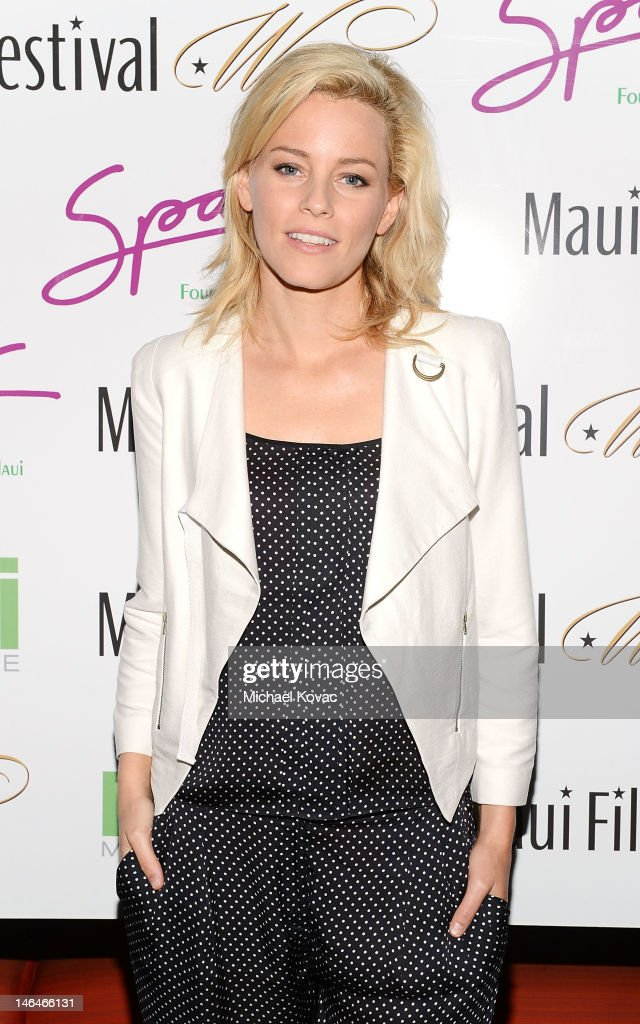 Actress <a gi-track='captionPersonalityLinkClicked' href=/galleries/search?phrase=Elizabeth+Banks&family=editorial&specificpeople=202475 ng-click='$event.stopPropagation()'>Elizabeth Banks</a> attends Soiree at Spago sponsored by Maui No Ka Oi Magazine at the 2012 Maui Film Festival on June 16, 2012 in Wailea, Hawaii.