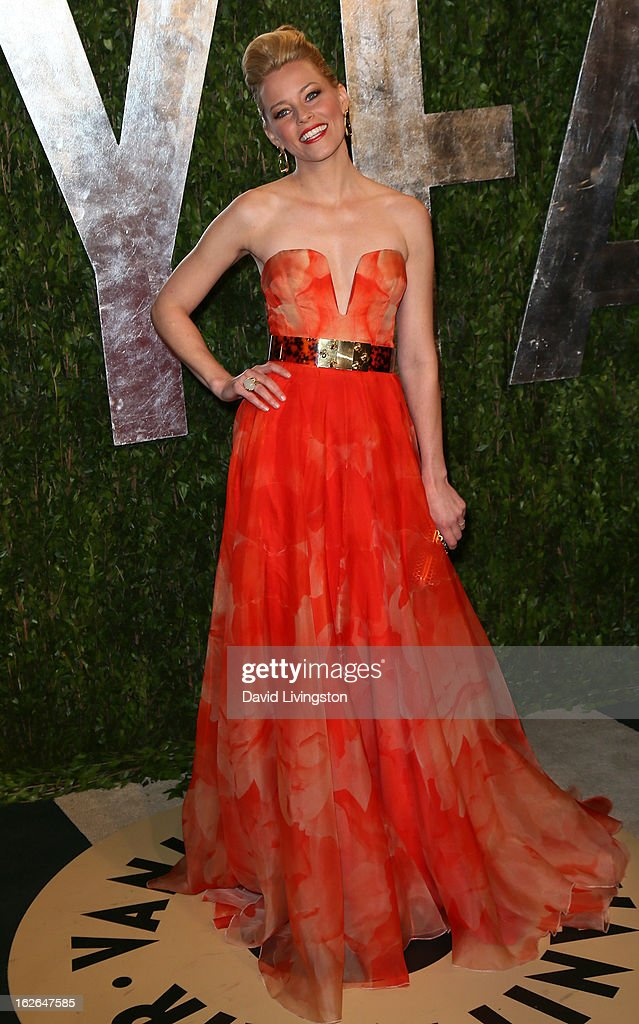 Actress Elizabeth Banks attends the 2013 Vanity Fair Oscar Party at the Sunset Tower Hotel on February 24, 2013 in West Hollywood, California.