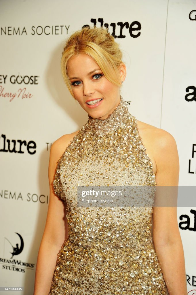 Actress Elizabeth Banks attends the Cinema Society with Linda Wells & Allure screening of DreamWorks Studios' 'People Like Us' at Clearview Chelsea Cinemas on June 25, 2012 in New York City.
