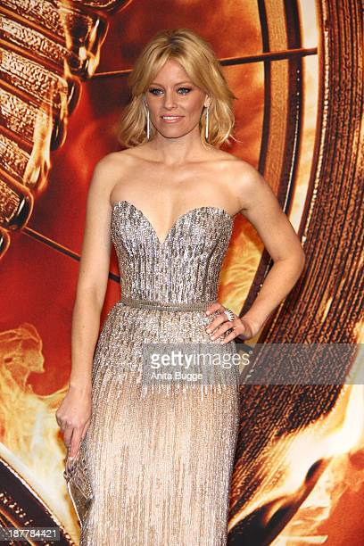 Actress Elizabeth Banks attends the Germany premiere of the film 'The Hunger Games Catching Fire' at Sony Centre on November 12 2013 in Berlin Germany