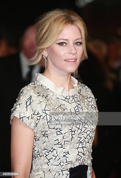 Actress Elizabeth Banks attends 'The Hunger Games Mockingjay Part 2' UK Premiere at the Odeon Leicester Square on November 5 2015 in London England
