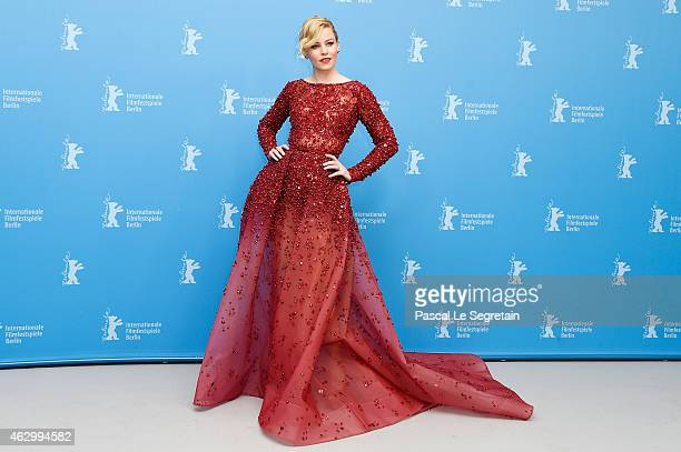 Actress Elizabeth Banks attends the 'Love Mercy' photocall during the 65th Berlinale International Film Festival at Grand Hyatt Hotel on February 8...