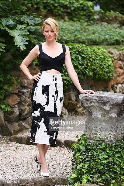 Actress Elizabeth Banks attends the 'Pitch Perfect 2' photocall De Russie on April 27 2015 in Rome Italy