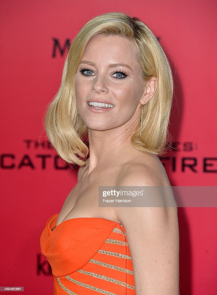 Actress Elizabeth Banks attends the premiere of Lionsgate's 'The Hunger Games: Cathching Fire' at Nokia Theatre L.A. Live on November 18, 2013 in Los Angeles, California.