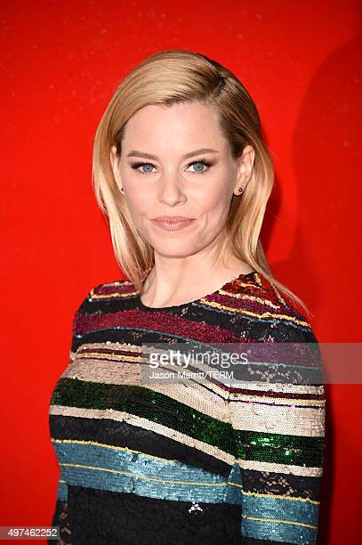 Actress Elizabeth Banks attends the premiere of Lionsgate's 'The Hunger Games Mockingjay Part 2' at Microsoft Theater on November 16 2015 in Los...