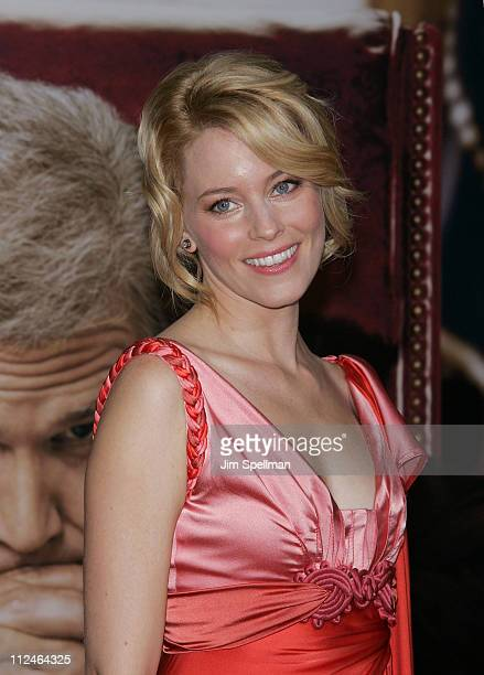 Actress Elizabeth Banks attends the premiere of 'W' at the Ziegfeld Theatre on October 14 2008 in New York City