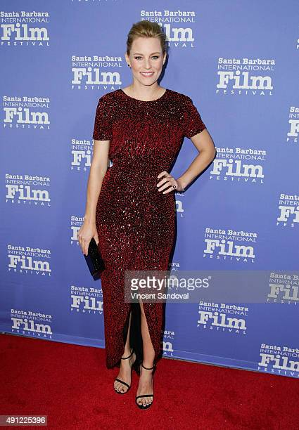 Actress Elizabeth Banks attends the Santa Barbara International Film Festival Annual Kirk Douglas Award for Excellence in Film honoring Jane Fonda at...